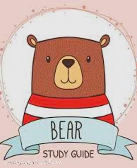 аппликация медведь в свитере