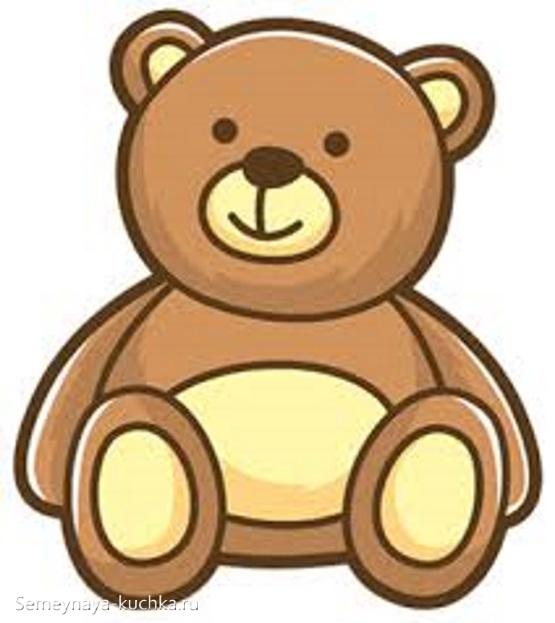 шаблон аппликации медведь для детского сада