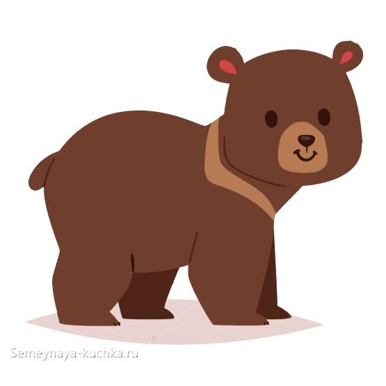 аппликация медвежонок гризли в детском саду шаблон