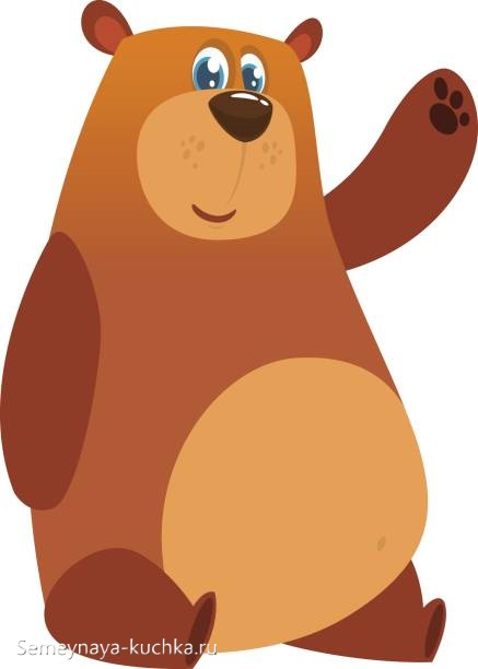 аппликация медведь с животом старшая группа