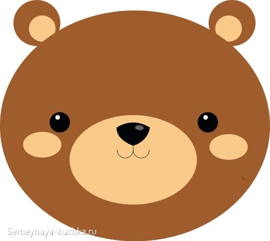 простой шаблон медведь для младшего возраста