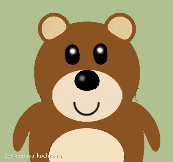 аппликация для малышей медведь ищет малину