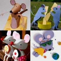 мышь из бумаги как сделать