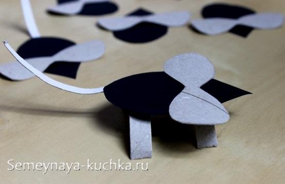 мышка из бумаги поделка для детского сада