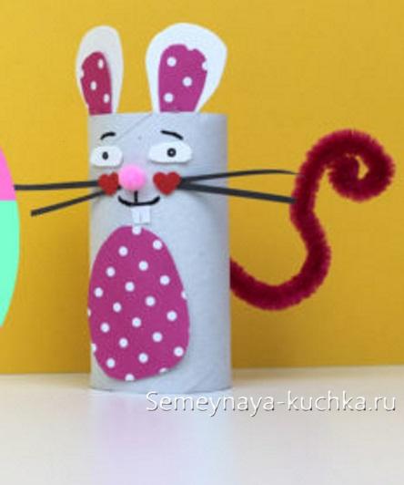 мышка из бумаги своими руками рулончик