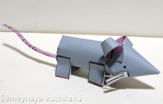 поделка мышка из бумаги своими руками