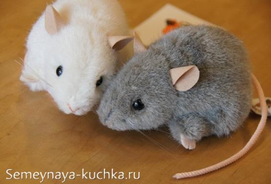 поделка мышка из меха сшить