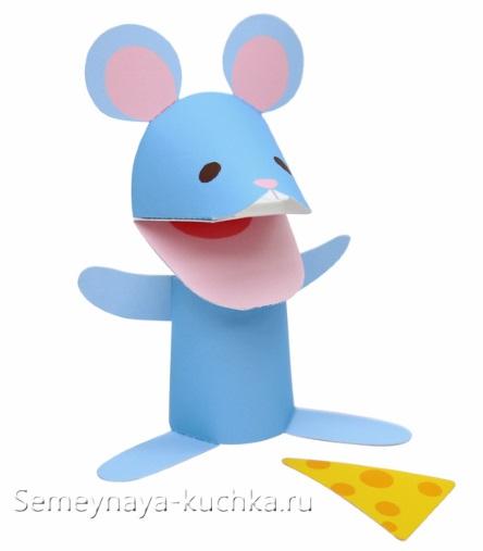мышка из бумаги простая своими руками