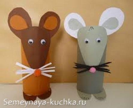 мышь из втулки рулончик