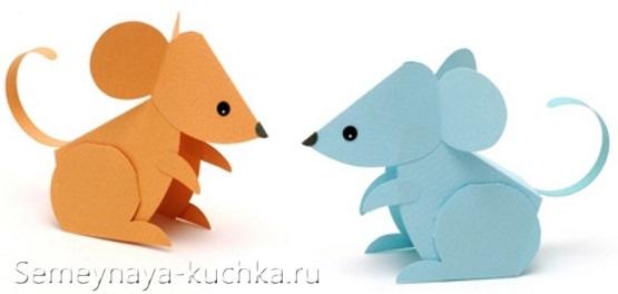 мышь из бумаги проста поделка для детского сада