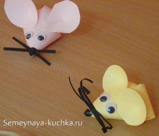 поделка мышь из бумаги простая детская