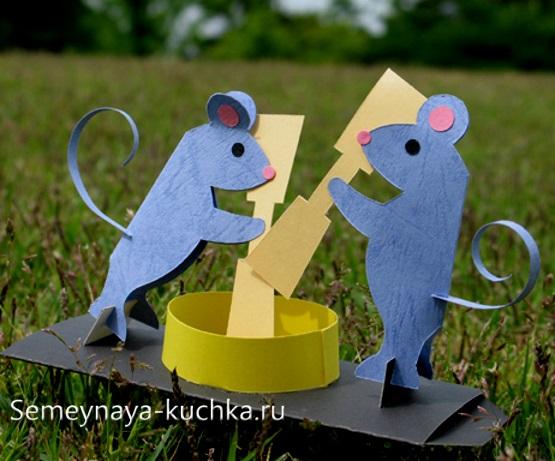 мышка игрушка поделка из бумаги