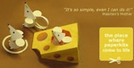мышки в сыре объемная поделка из бумаги