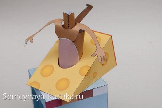мышь из бумаги поделка