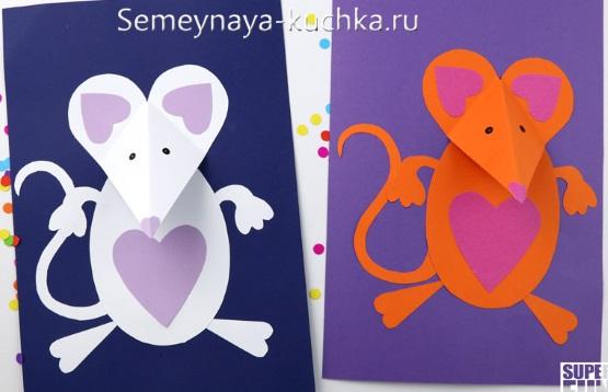 аппликация мышь из бумаги для детского сада