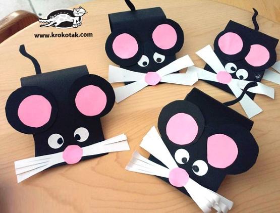 мышь из бумаги объемная для детей