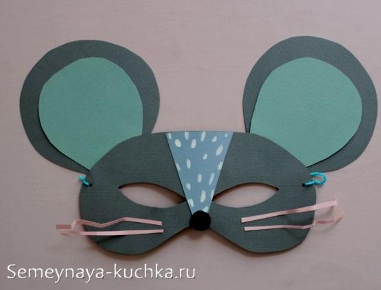 маска мышка из картона