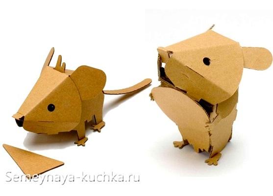мышки из картона быстрая поделка из бумаги или картона