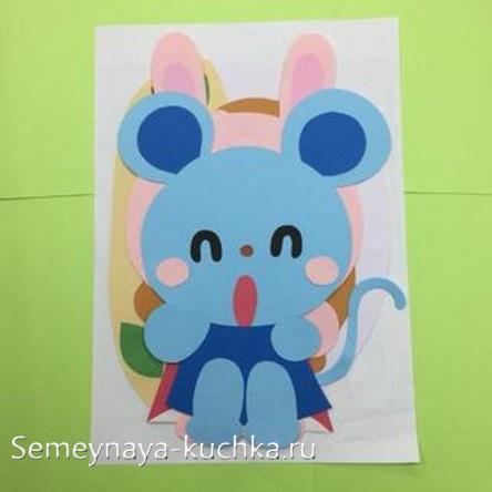 аппликация мышонок для детей