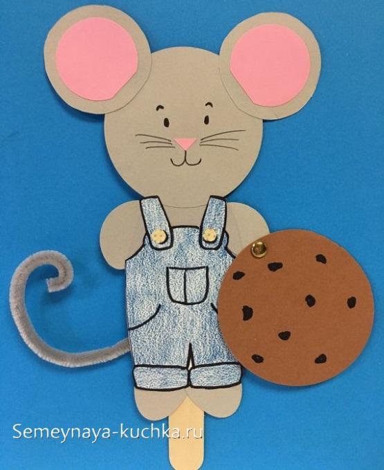 аппликация мышка для етей