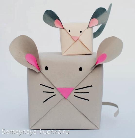 упаковка мышка для детей