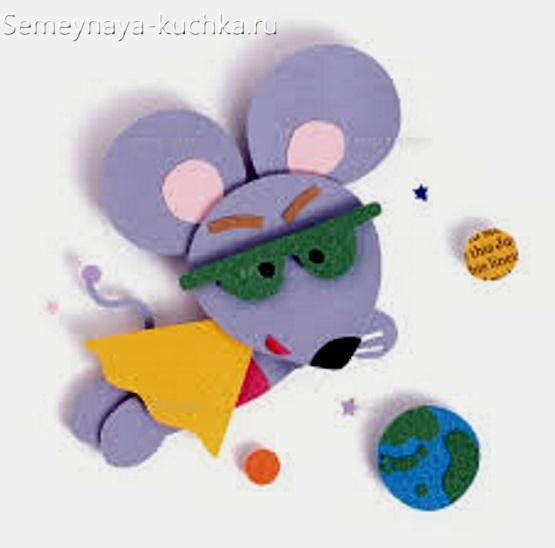 аппликация мышка летит