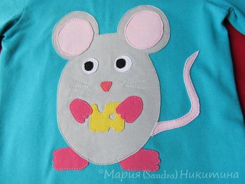 аппликация мышка на майку
