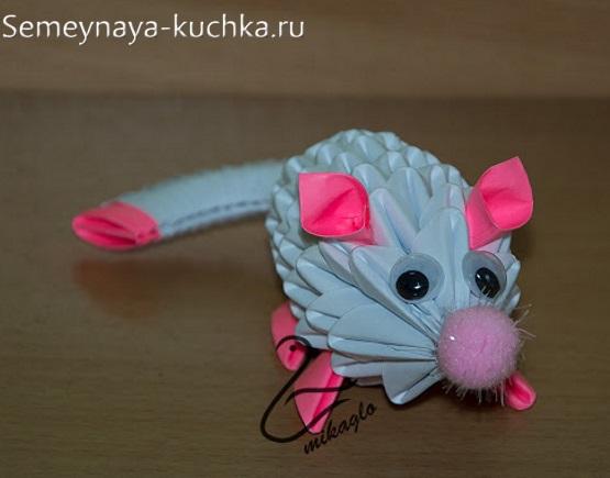 мышь из модульного оригами