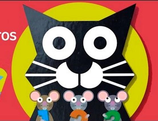 аппликация мышка и кот