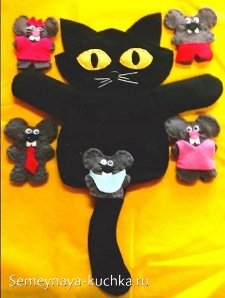 пальчиковый и кукольный театр кот и мышки