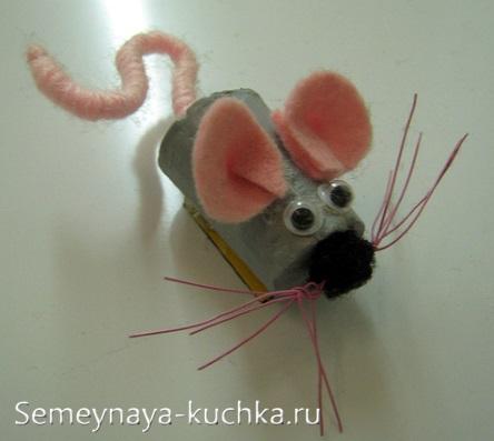 мышка из пробки от вина простая поделка