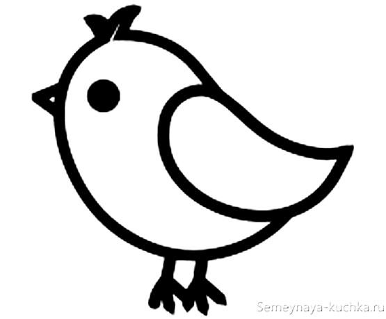 раскраска на 2 года птичка