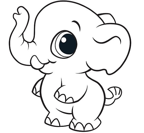 раскраска на 2 года слоник