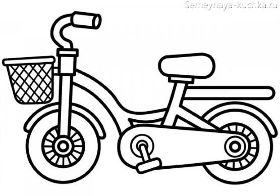 раскраска на 2 года велосипед