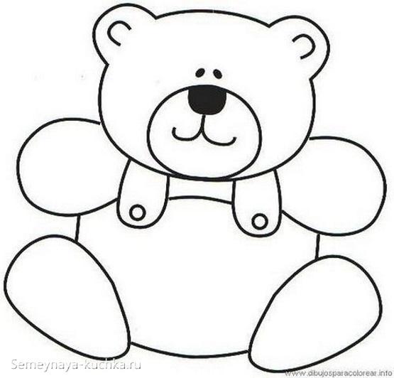 шаблон аппликации медведь в средней группе