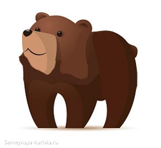 аппликация медведь проснулся весной