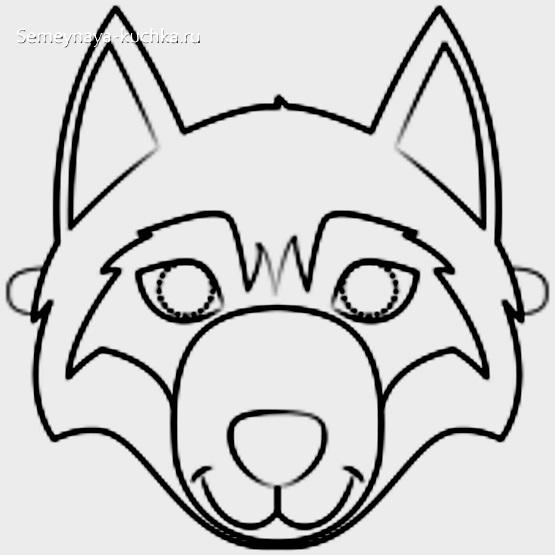 новогодние маски волк шаблон