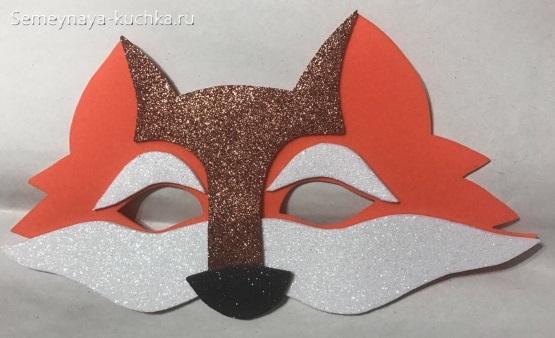 лиса новогодние маски шаблон