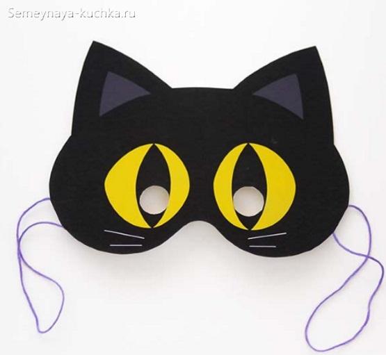кошка новогодние маски шаблон