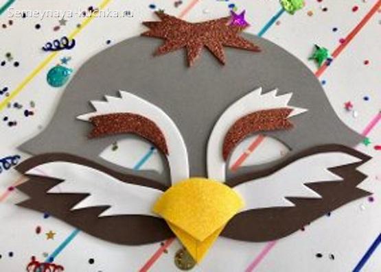 новогодние маски птица шаблон