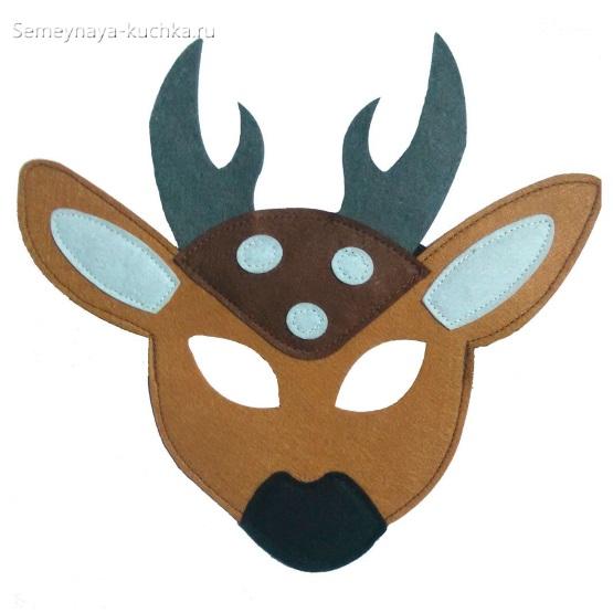 олень детская маска своими руками