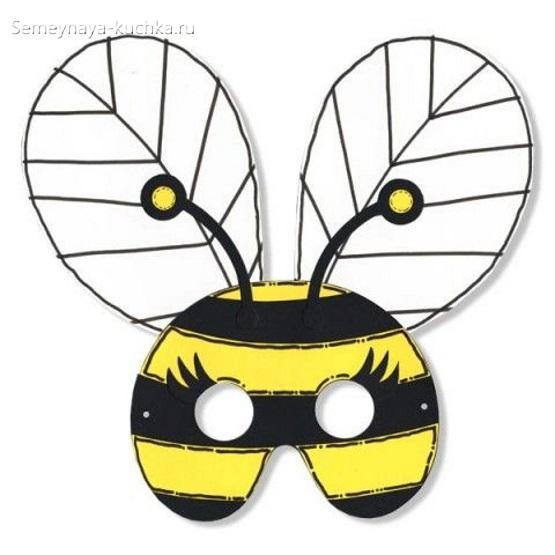 детская маска пчела своими руками
