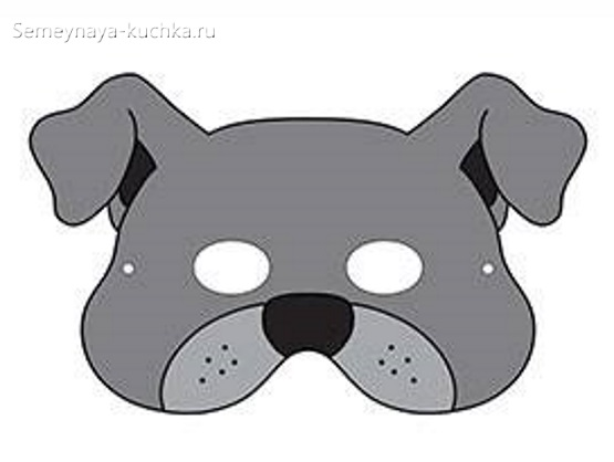 собачка детская маска своими руками