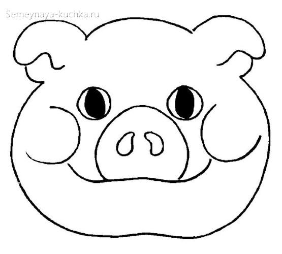 детская маска свинка своими руками