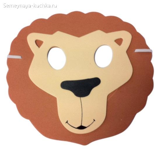 новогодние маски лев шаблон