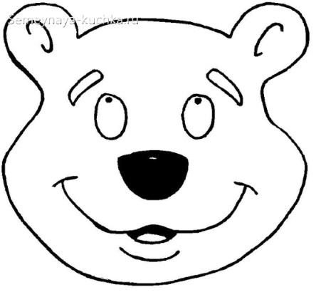 медведь детская маска своими руками