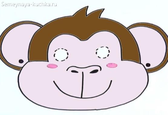 детская маска обезьянкасвоими руками