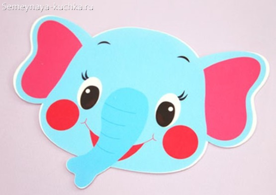 детская маска слон сделать самим