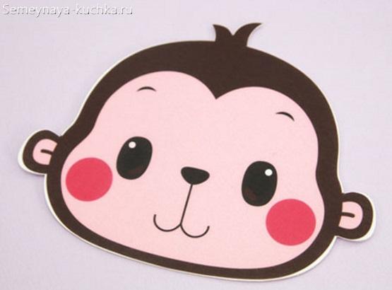 детская маска обезьянка сделать самим