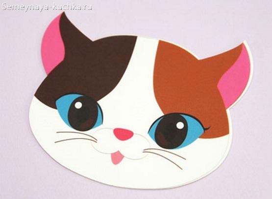 детская маска котик сделать самим